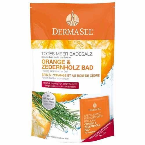 Dermasel Totes Meer Badesalz Orange & Zedernholz - 1