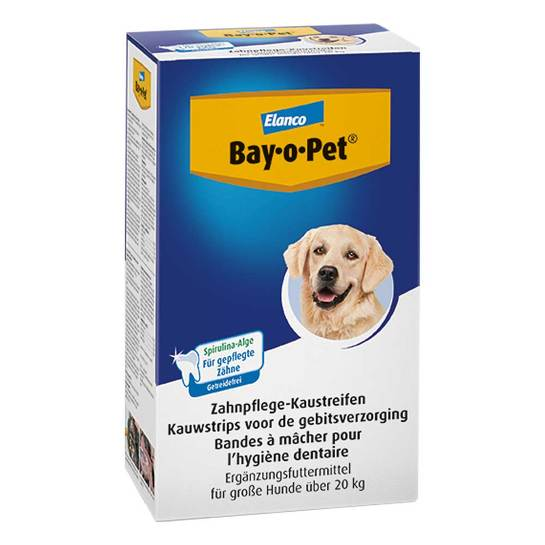 Bay O PET Zahnpflaster Kaustreifen für große Hunde - 1