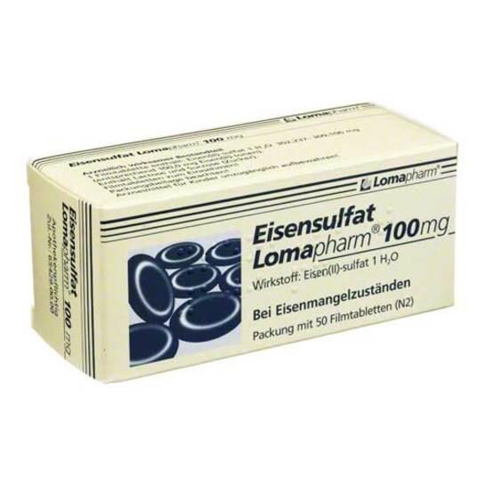 Eisensulfat Lomapharm 100 mg Filmtabletten - 1