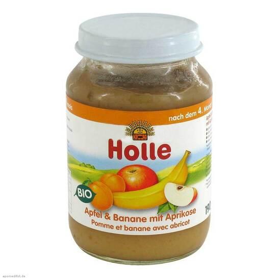 Holle Apfel & Banane mit Aprikose - 1