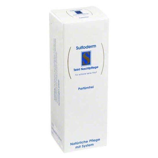 Sulfoderm S Teint Nachtpflege parfümfrei - 1