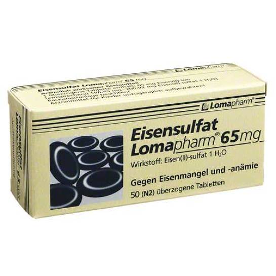 Eisensulfat Lomapharm 65 mg überzogene Tabletten - 1