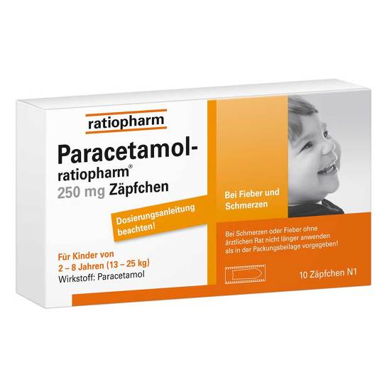 Paracetamol ratiopharm 250 mg Kleinkinder -Suppositorien - 1