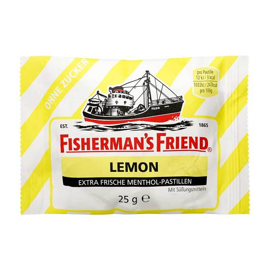 Fishermans Friend Lemon ohne Zucker Pastillen - 1