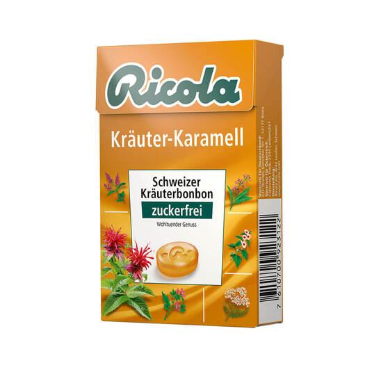 Ricola ohne Zucker Box Kräuter-Karamell Bonbons - 1