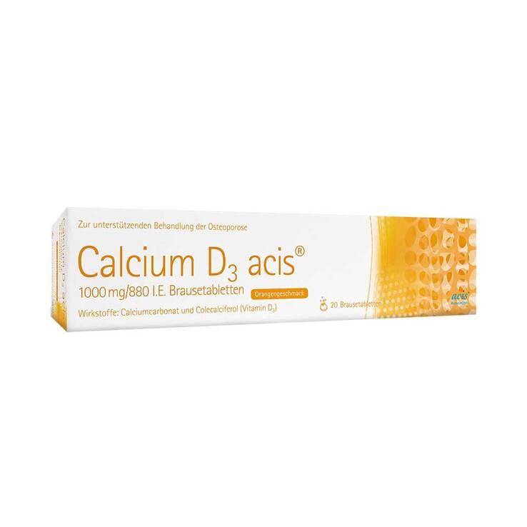Calcium D3 acis 1000 mg / 880 I.E. Brausetabletten