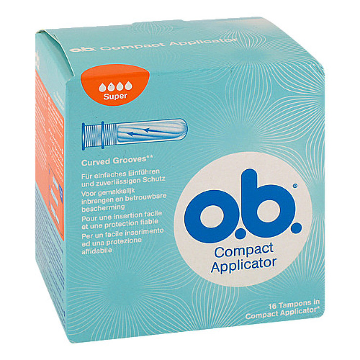Compact Applicator für O.B.Tampons super 16 er bei APONEO